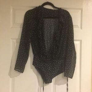 Star print bodysuit